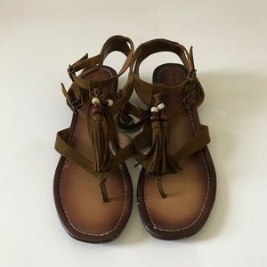 Tassel Feather Sandals   Mossimo